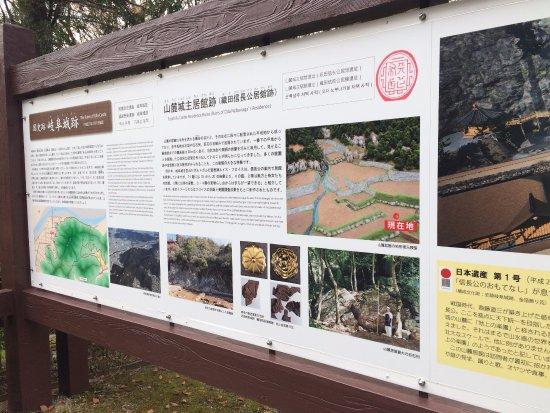 Gifu Park: 信長居館跡説明