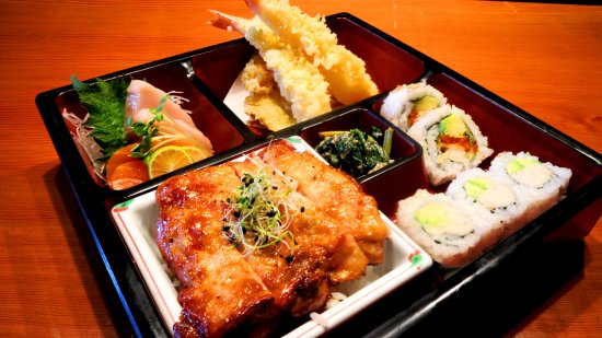 chicken teriyaki lunch bento box picture of kamei baru vancouver tripadvisor. Black Bedroom Furniture Sets. Home Design Ideas
