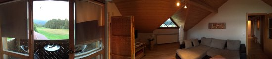 Mauth, Alemania: Views of our 2 bedroom suite.  Beautiful views of the area behind the gasthof.