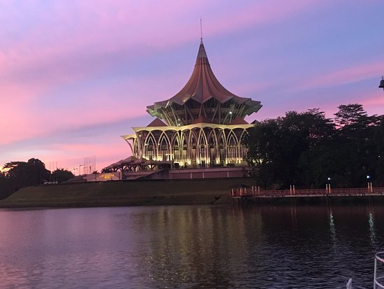 Kuching Esplanade: DUN Buildling Across the River