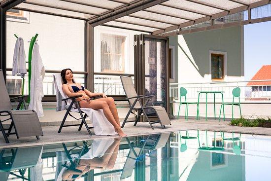 Ансфельден, Австрия: Beheizter Outdoor Pool