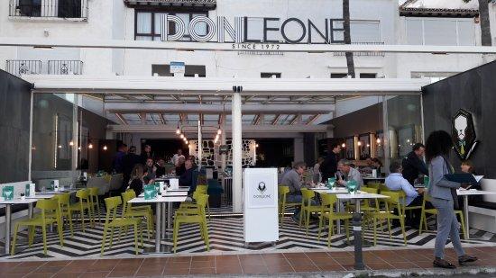 Don Leone: la terraza