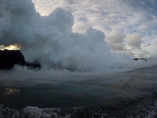 Pahoa, HI: Lava firehose steam