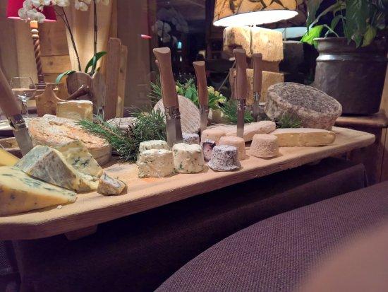 Manigod, França: Le choix de fromages