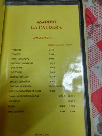 Firgas, Spagna: menù.foto 3