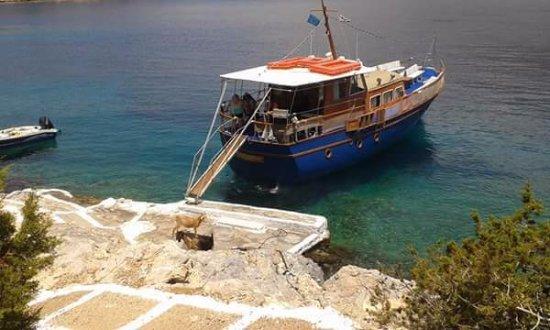 Marathokampos, Grecja: Ariving in Samiopoula Island!!