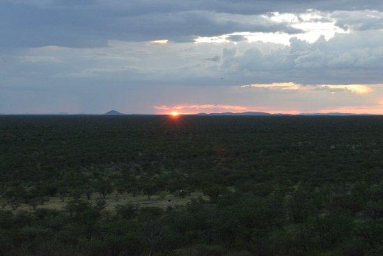 Khorixas, Namibia: Solnedgang fra utsiktsplassen