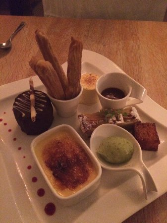 Pershore, UK : The Assiette of desserts