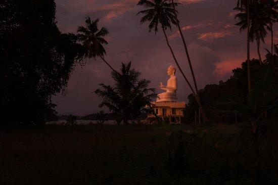 Riverside Inn Fuji Bentota: On your way to the beach you'll pass this beautiful Buda