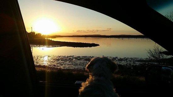 Tea Gardens, Australia: Sunset at Winda Whoppa-Hawks Nest so close to Sydney & yet so far....