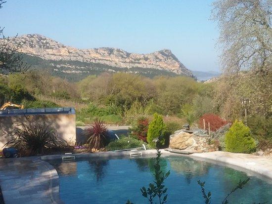 Vue sur montagnes et au loin golfe de saint florent picture of chambre d 39 hotes casa andria - Chambre d hote st florent corse ...