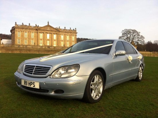 Long Eaton, UK: S class Mercedes, the perfect modern day wedding car for a stylish arrival