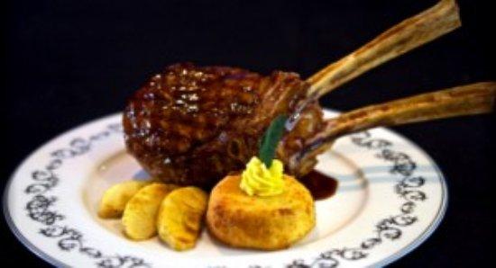Christini's Ristorante : veal chop with polenta