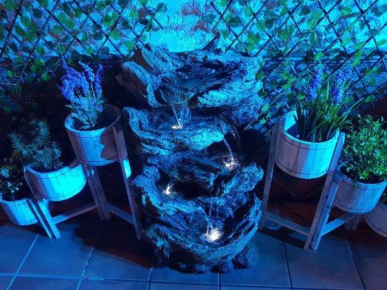Formentera del Segura, España: Terraza con decoración
