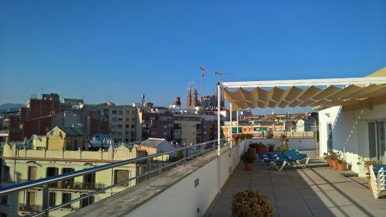 Hotel Aranea: Terraza