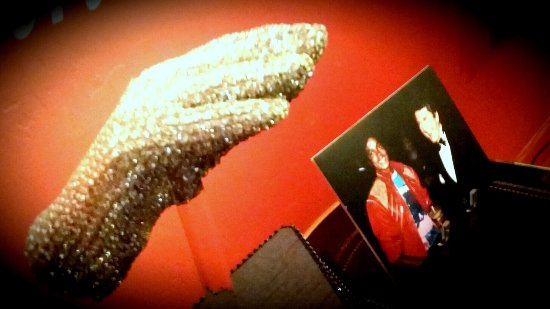 The Liberace Museum Collection Tour: Michael Jackson's Victory Tour glove with the Liberace Museum Collection at Thriller Villa