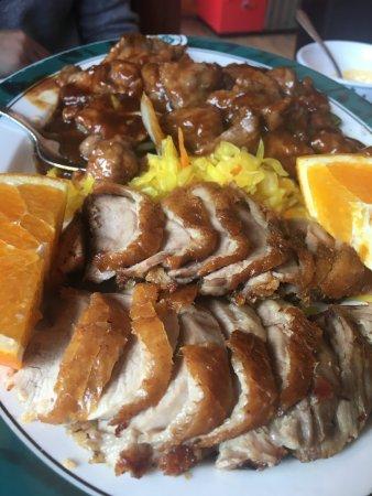 Pato a la naranja con ternera picture of zhong hua for Pato a la naranja