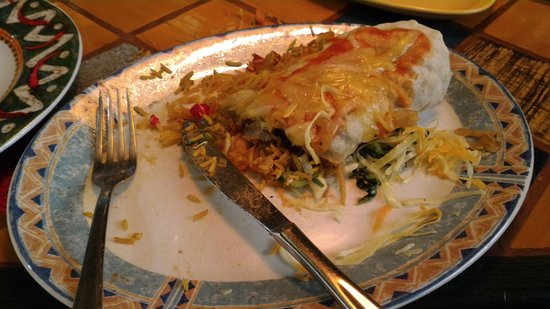 Cactus : Half-eaten Mexican Pork Burrito. Came with seasoned rice and a coleslaw-ish accompaniment