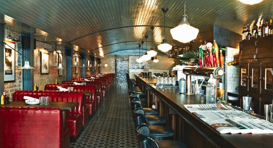 American Diner, sehr trendig eingerichtet, gute frische ...