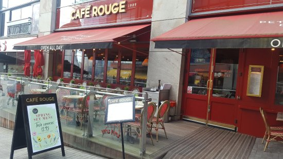 Cafe Rouge Birmingham Bullring Menu