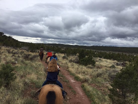 Looking toward Cedar City, riding with Klay Klemic of Rising K Ranch