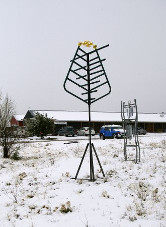Edgewood, NM: One of the outdoor sculptures in front of the market more coming soon