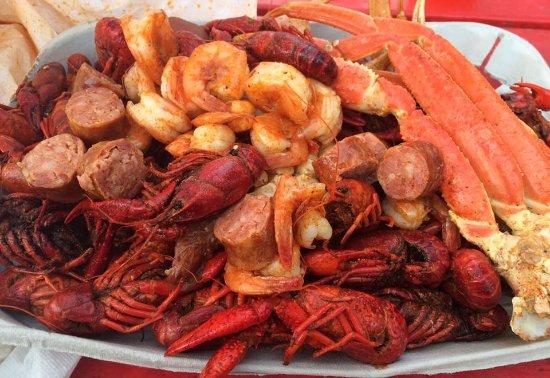 Huntsville, TX: Crawfish, Shrimp, Crab, and Sausage!