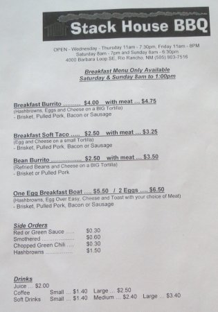 Rio Rancho, NM: Weekend Breakfast menu