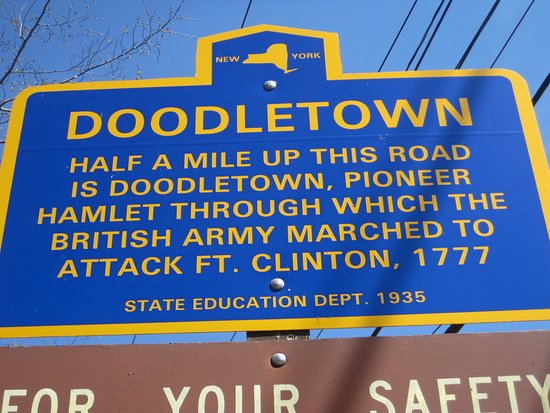 Stony Point, NY: Sign on 9W at the start of the trial