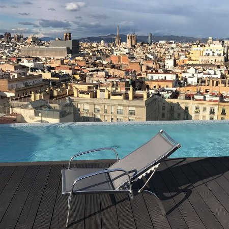 Small Roof Top Swimming Pool With A View At Barcelona