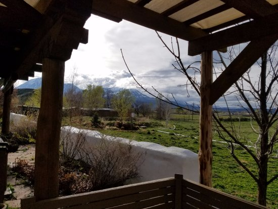 Paonia, CO: View of the mountains from the deck..