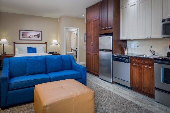 Summerland, Canada: Studio Suite with Kitchen & Living Room