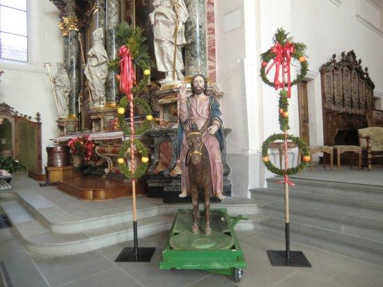 Schwyz, Schweiz: Jesù sull'asino