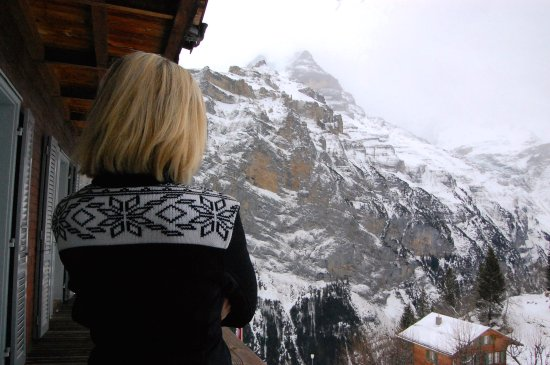 Hotel Eiger: View from balcony