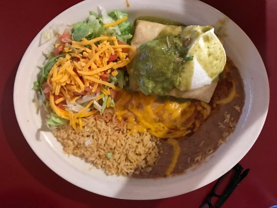 Mazatlan Restaurant: Pork Chile Verde Chimichanga