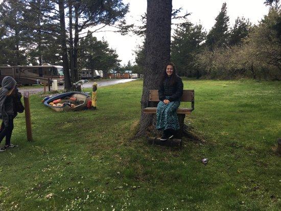 Seaview, Etat de Washington : Cutest Bench ever my granddaughters loved it