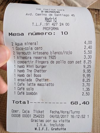 Img 20170204 161556 Large Jpg Picture Of The Chatter Cafe Madrid Tripadvisor