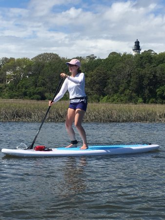Fernandina Beach, FL: Paddle boarding Egans Creek - one of the best places to SUP in Jacksonville area