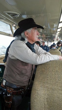 Williams, AZ: This was one of the cowboys who circulated on the train and talked about the local history.