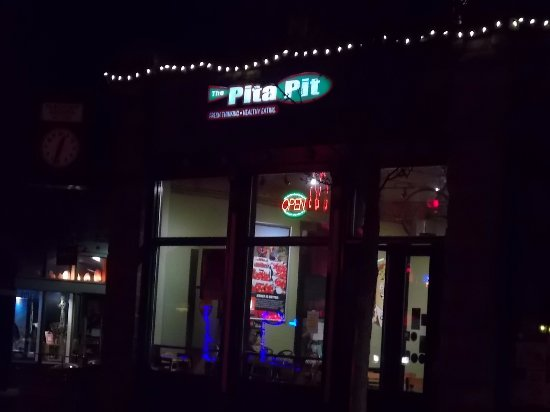 The Pita Pit, Flagstaff, AZ. Late night dining.