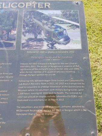 Nyngan, Австралия: Memorial Plaque Restoration Information