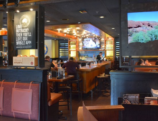 from looking back through the bar picture of outback steakhouse statesville tripadvisor tripadvisor