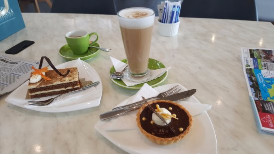 Makana Confections: citrus choc tart and carrot cake - the tart was perfect!
