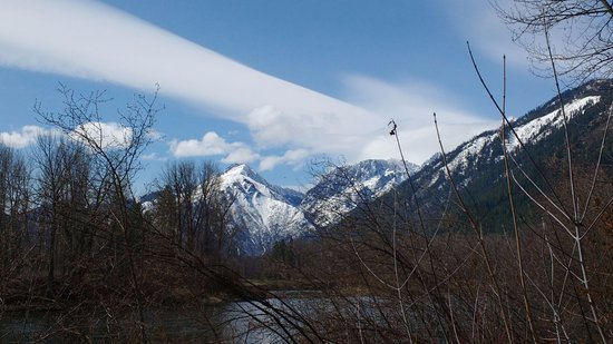 Leavenworth, WA: View from waterfront park with strange cloud.