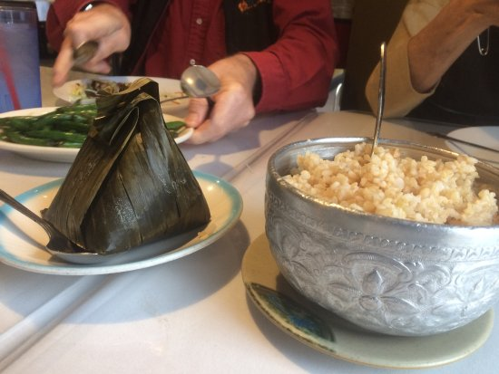 Campbell, CA: The fish comes wrapped in a banana leaf