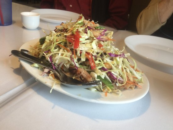 Campbell, CA: Chinese chicken salad, our friend's favorite