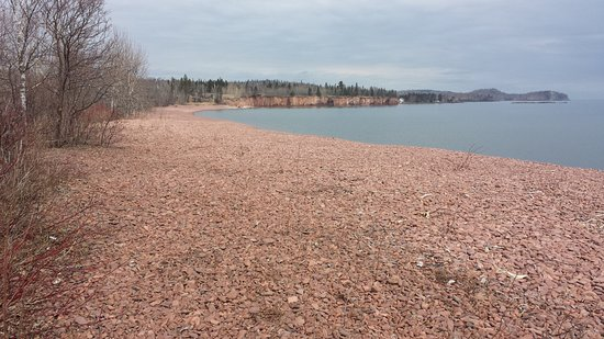 Two Harbors, MN: At top of dune