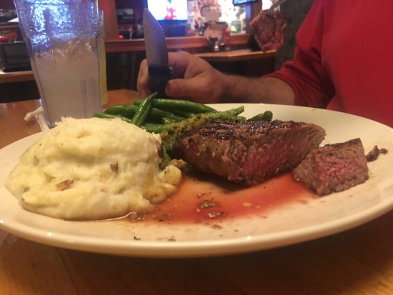 Plainwell, MI: This steak was supposed to be medium well. It was rare.