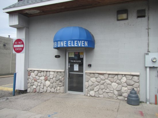 Whitehall, MI: Backdoor entrance from parking area