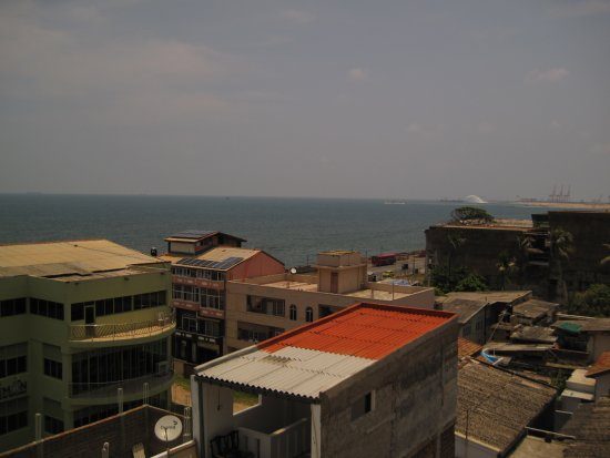Renuka City Hotel: View from the terrace/pool area